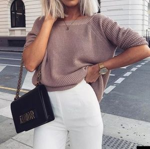Lulus just for you nude oversized sweater